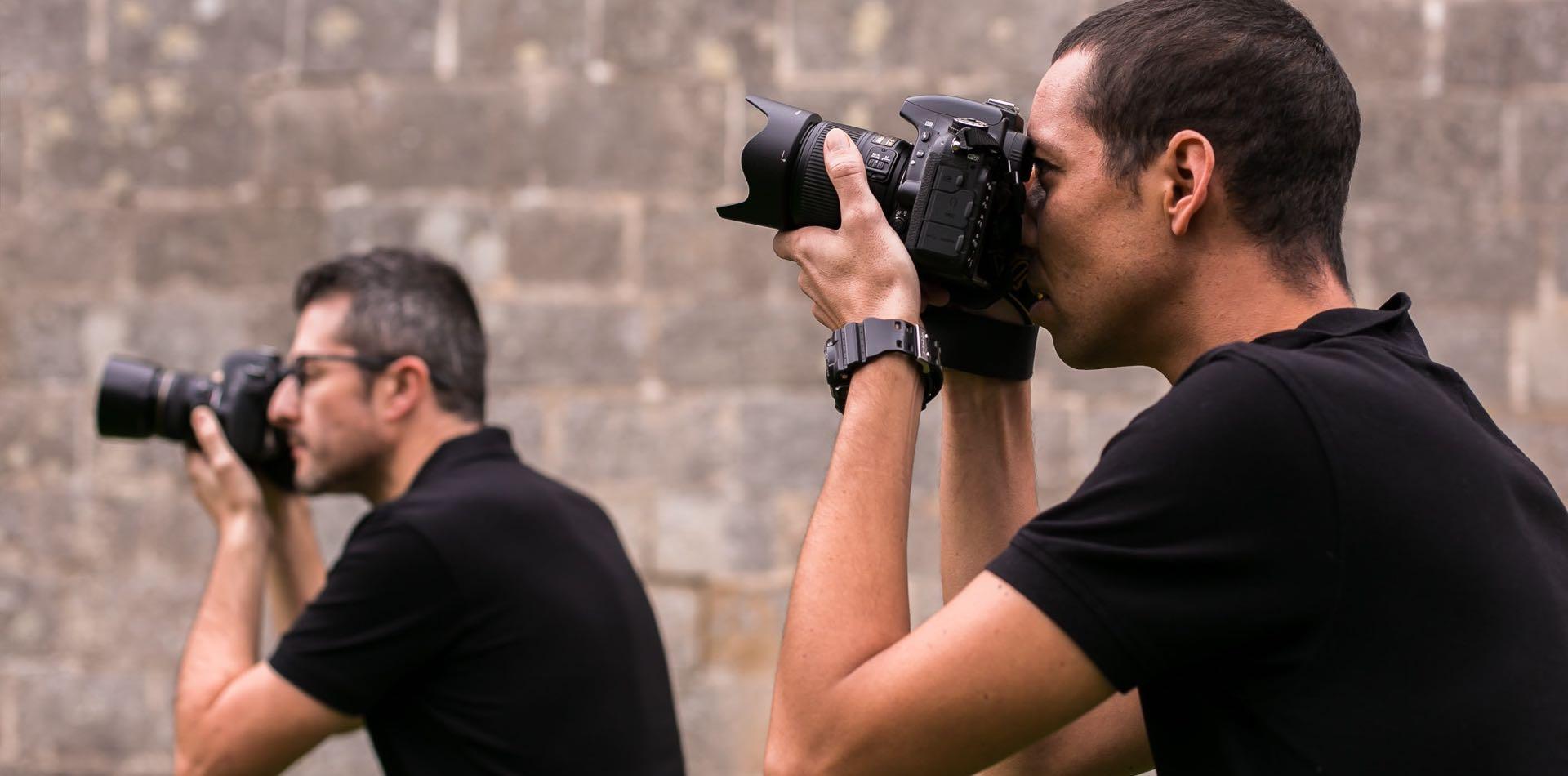 Nosotros somos Richard Candendo y Pablo Nunes fotógrafos de boda en notblank-Fotógrafo de boda