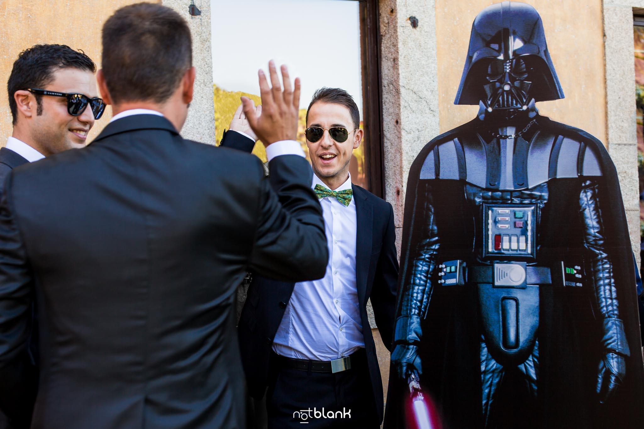 notblank-boda-Fotógrafo de boda-Malaposta-Portugal-Darth Vader-Star Wars-Boda Temática