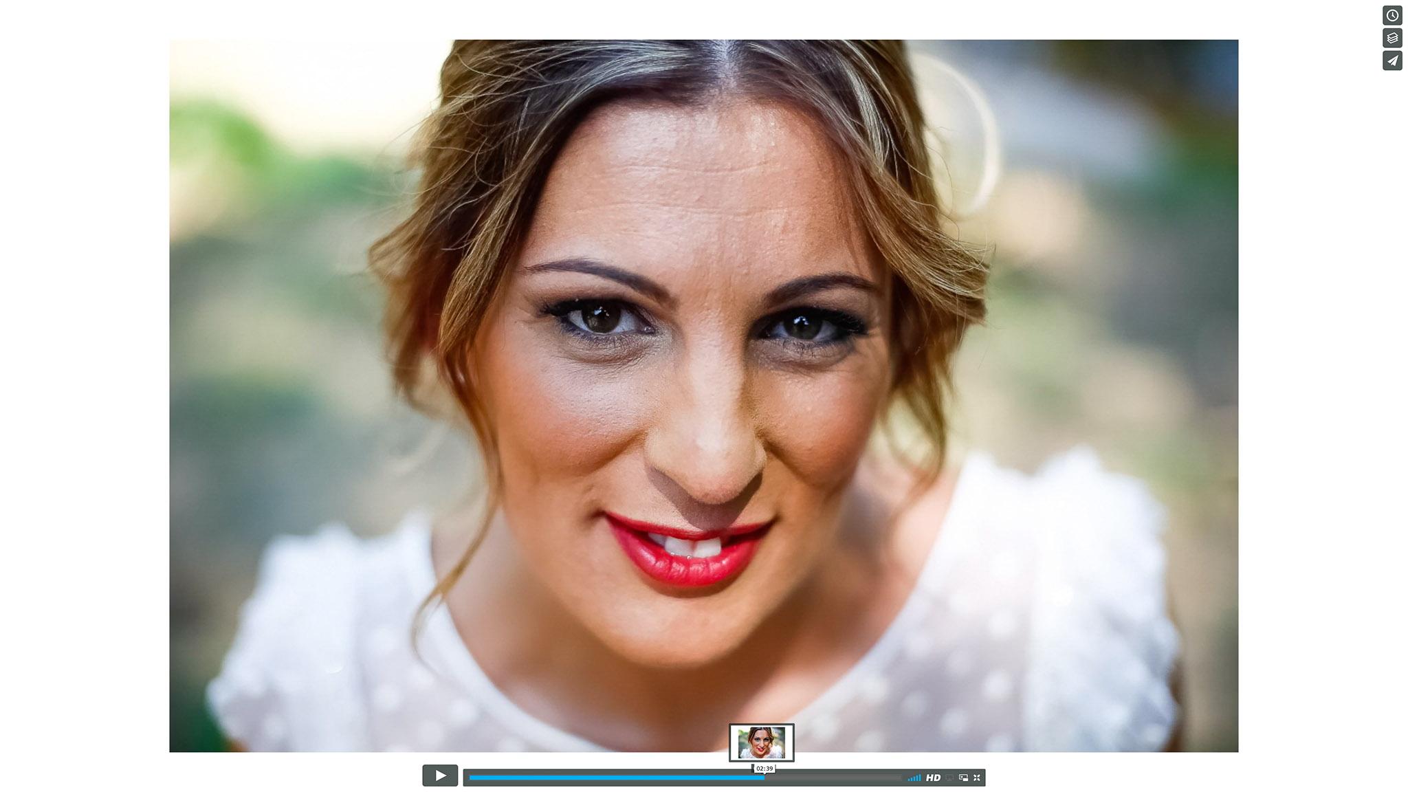 Same Day Edit - Captura de pantalla de los fotógrafos de boda Notblank de Tui.
