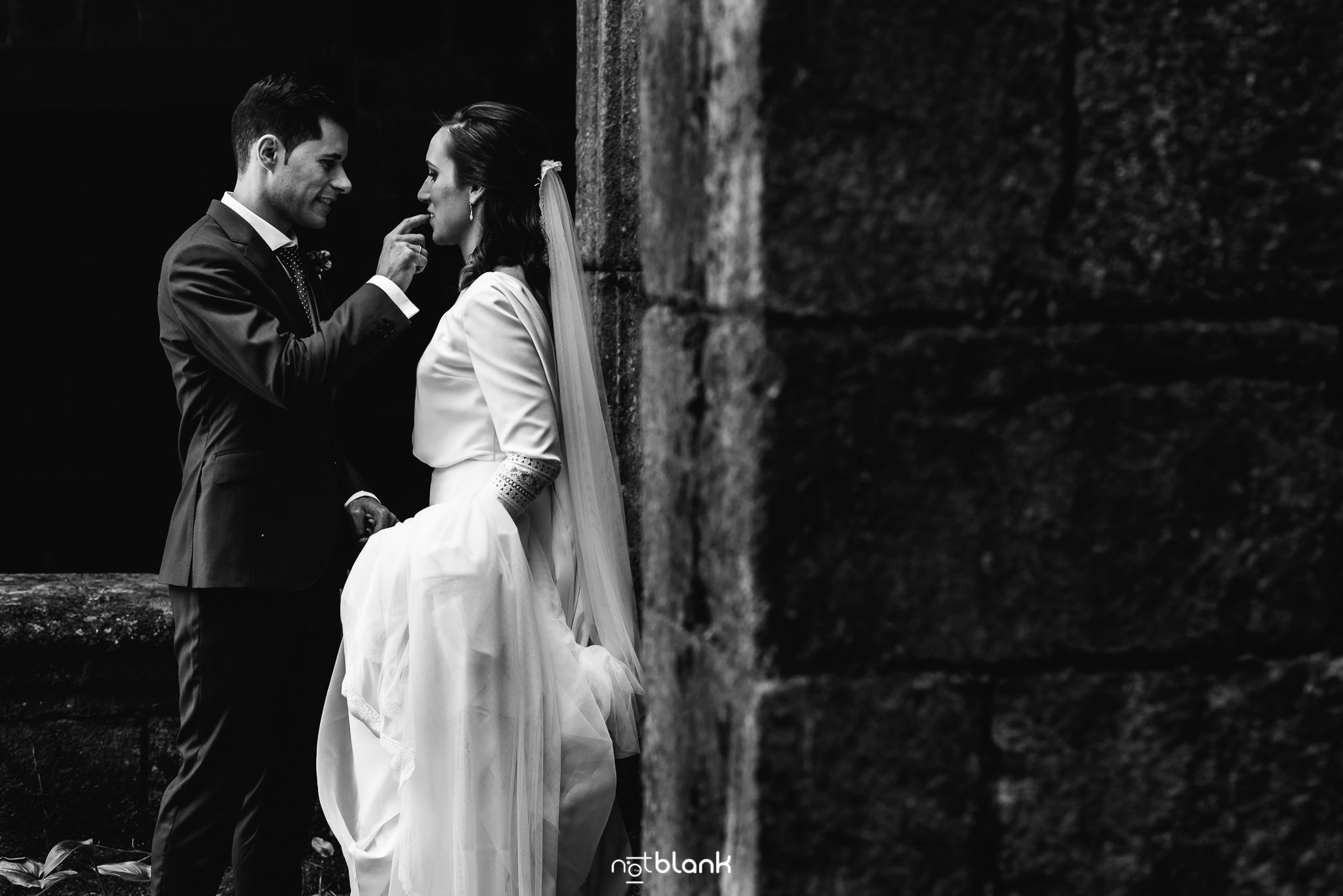 Boda en La Guardia de Conchi y Rubén. Reportaje realizado por Notblank Fotografos de boda.