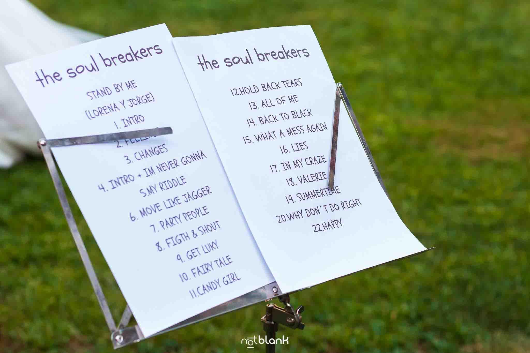 Partitura de musica de boda