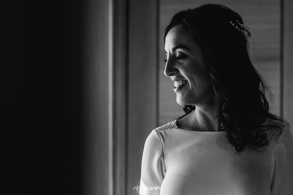 La novia se prepara para su boda en Villagarcía
