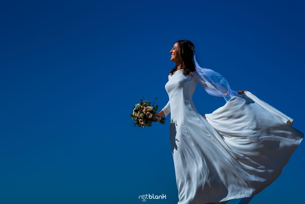 Retrato de la novia antes de su boda